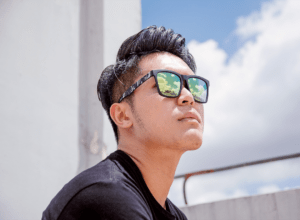 Asian Wearing Asian Fit Sunglasses