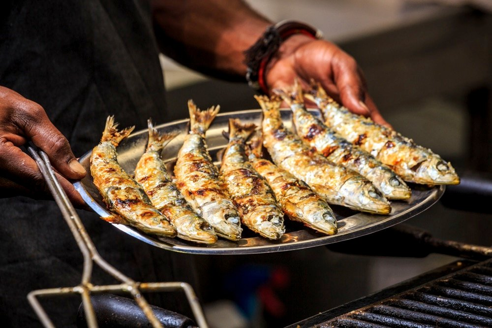 grilled sardines in portugal food to try