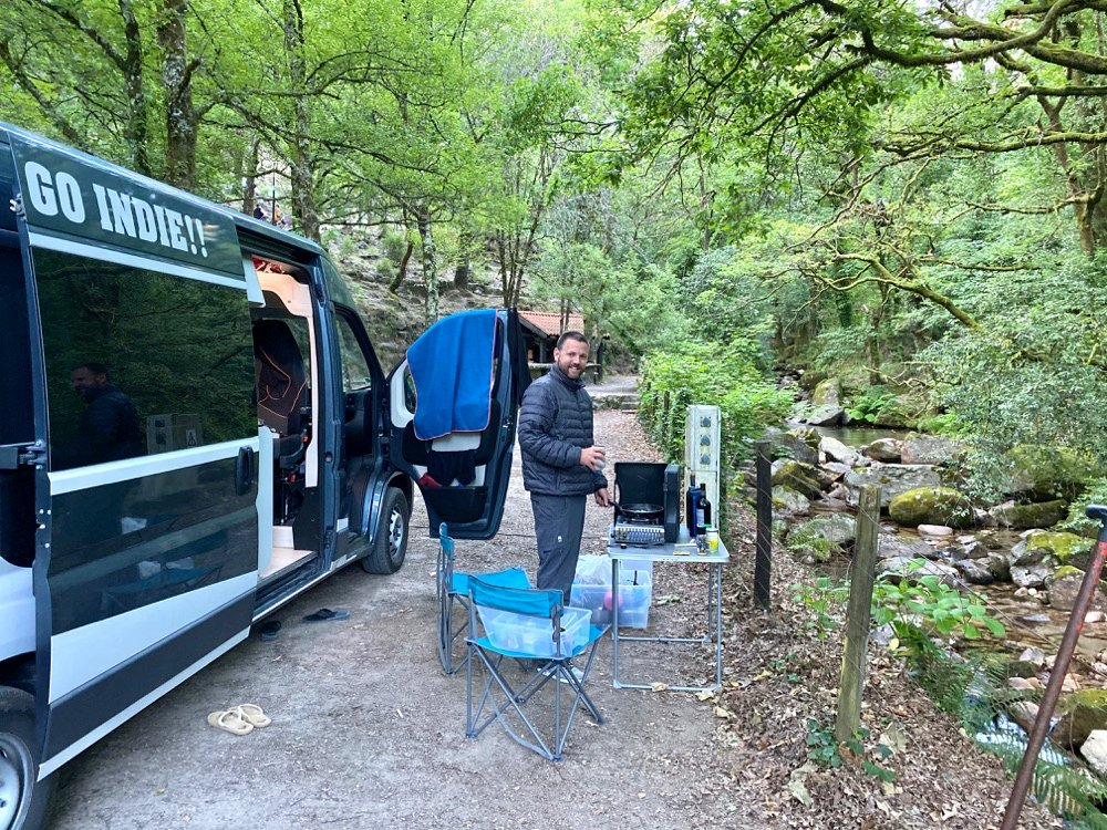 camping in a campervan free campsites