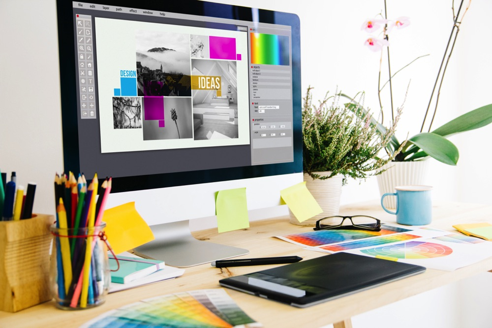 working as a freelance graphic designer