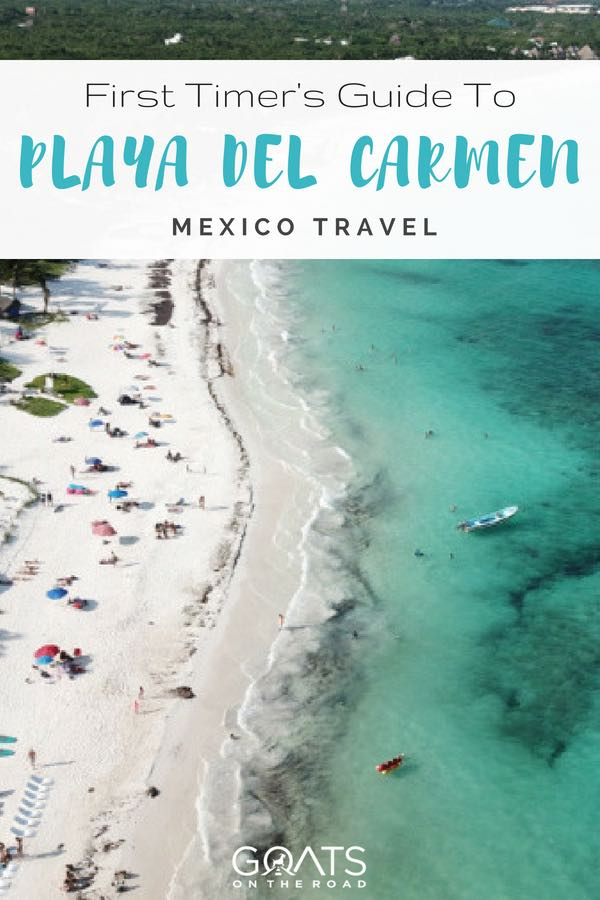 Xpu Ha beach with text overlay First Timers Guide To Playa Del Carmen Mexico