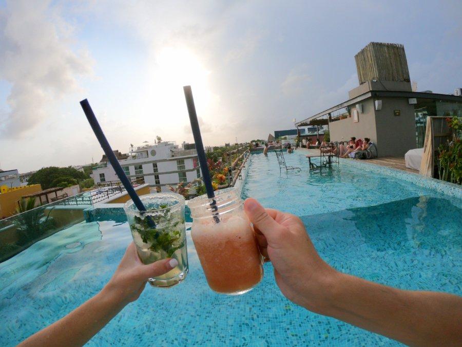Be Playa is the best pool to swim in playa del carmen