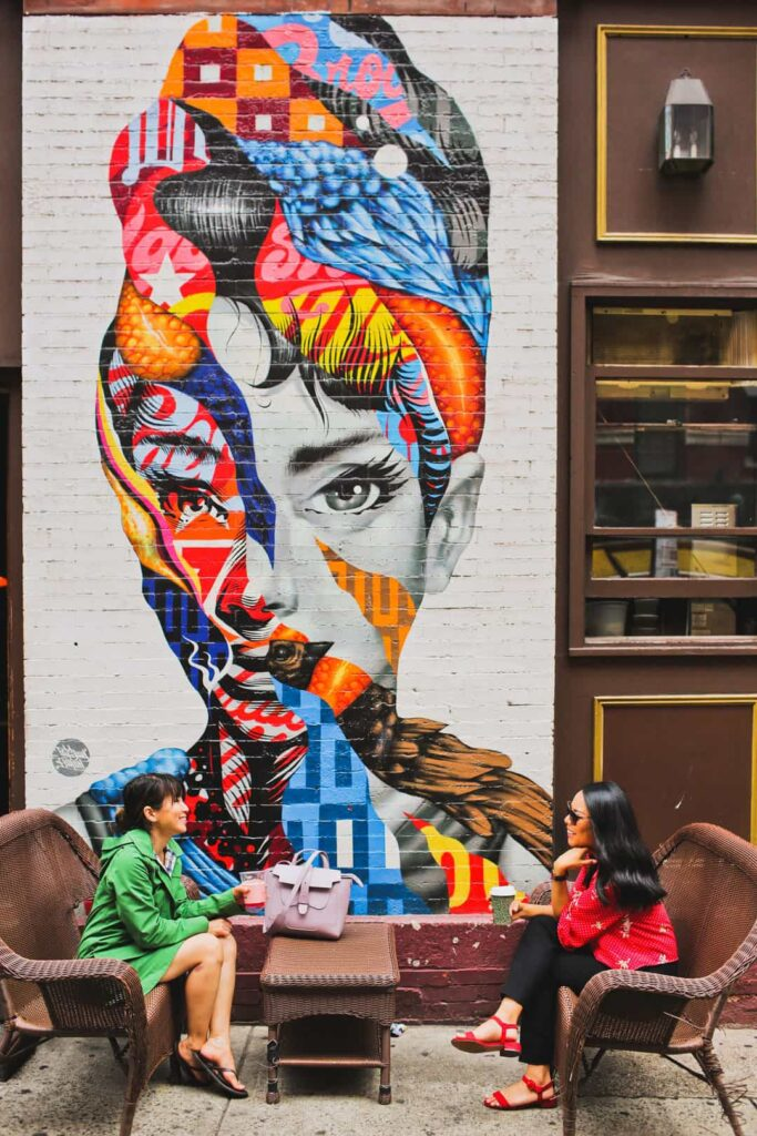 Audrey Hepburn Mural NYC, Little Italy, Manhattan + 25 Cool Places in NYC for Photography