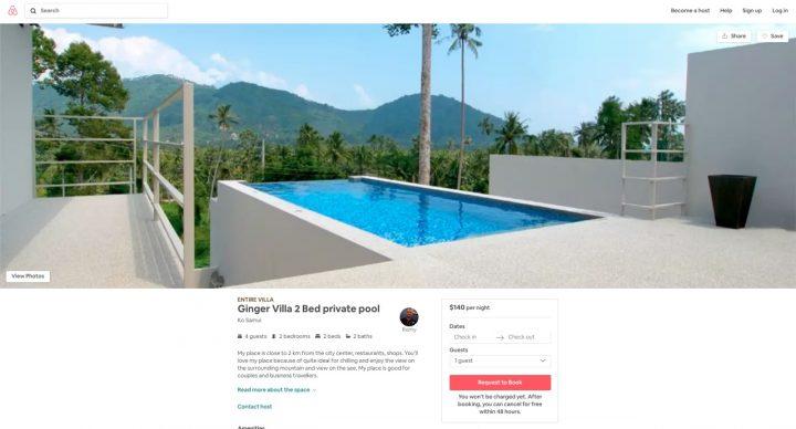 Ginger Villa Airbnb Ko Samui