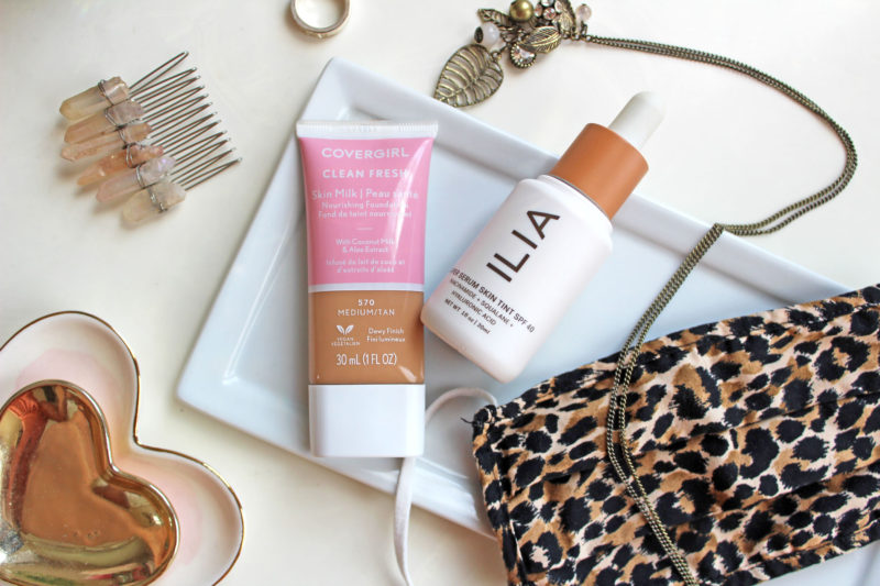 Best cruelty free foundation to wear during quarantine or with a mask - CoverGirl and Ilia