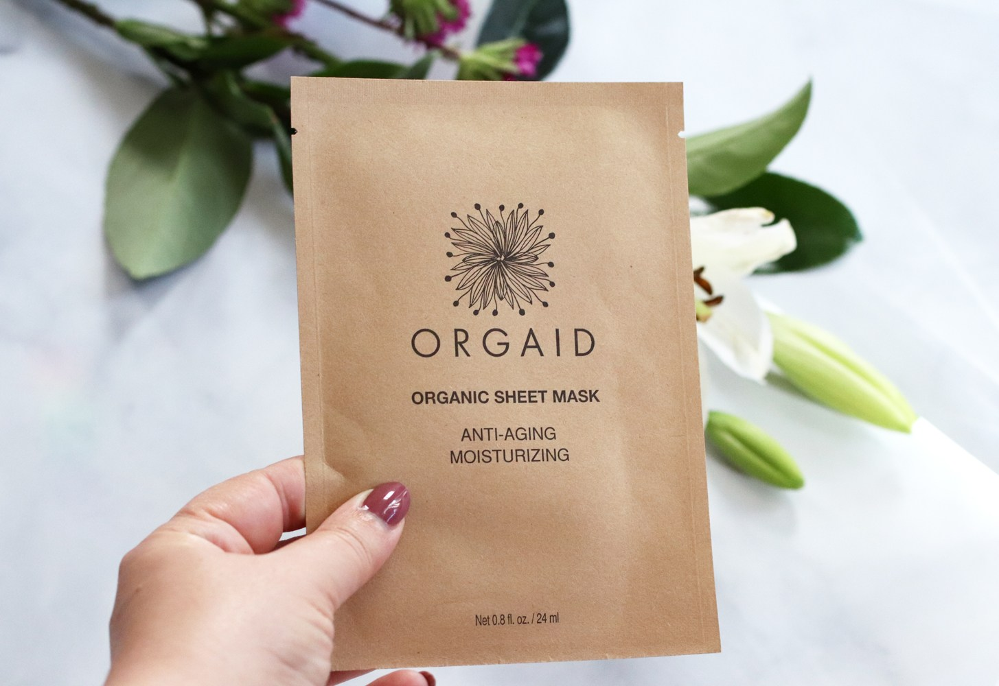 Clean beauty from Cynaglow - ORGAID organic sheet mask review