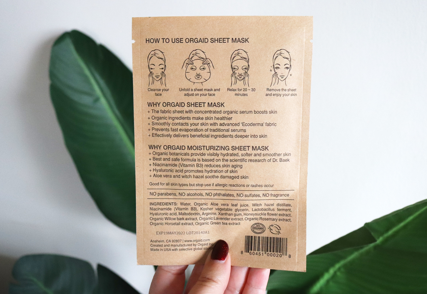 Cruelty free beauty from Cynaglow - ORGAID organic sheet mask review