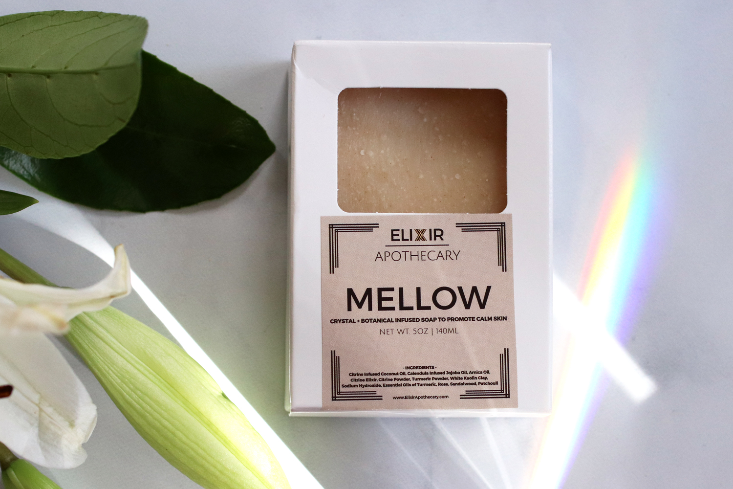 Elixir Apothecary Citrine Infused Mellow Soap Bar