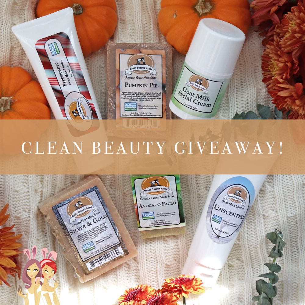 Honey Sweetie Acres clean beauty goat milk skincare giveaway