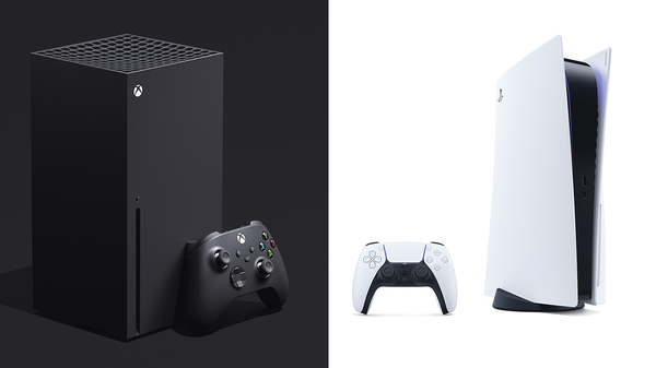 The Microsoft Xbox Series X and the Playstation 5.