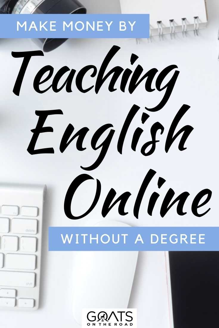 """""""Make Money By Teaching English Online Without A Degree"""