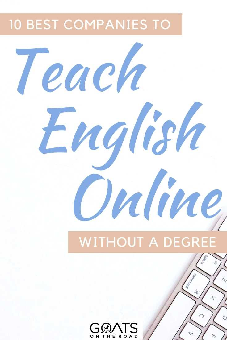 """10 Best Companies To Teach English Online Without A Degree"