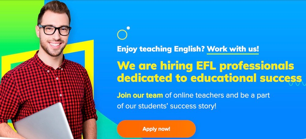 teaching online with no experience open english