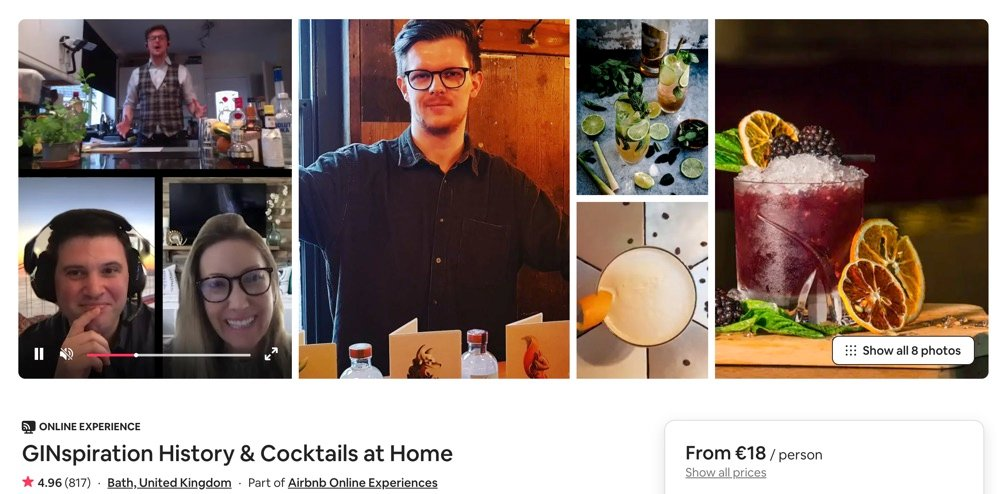 gin cocktail airbnb experience