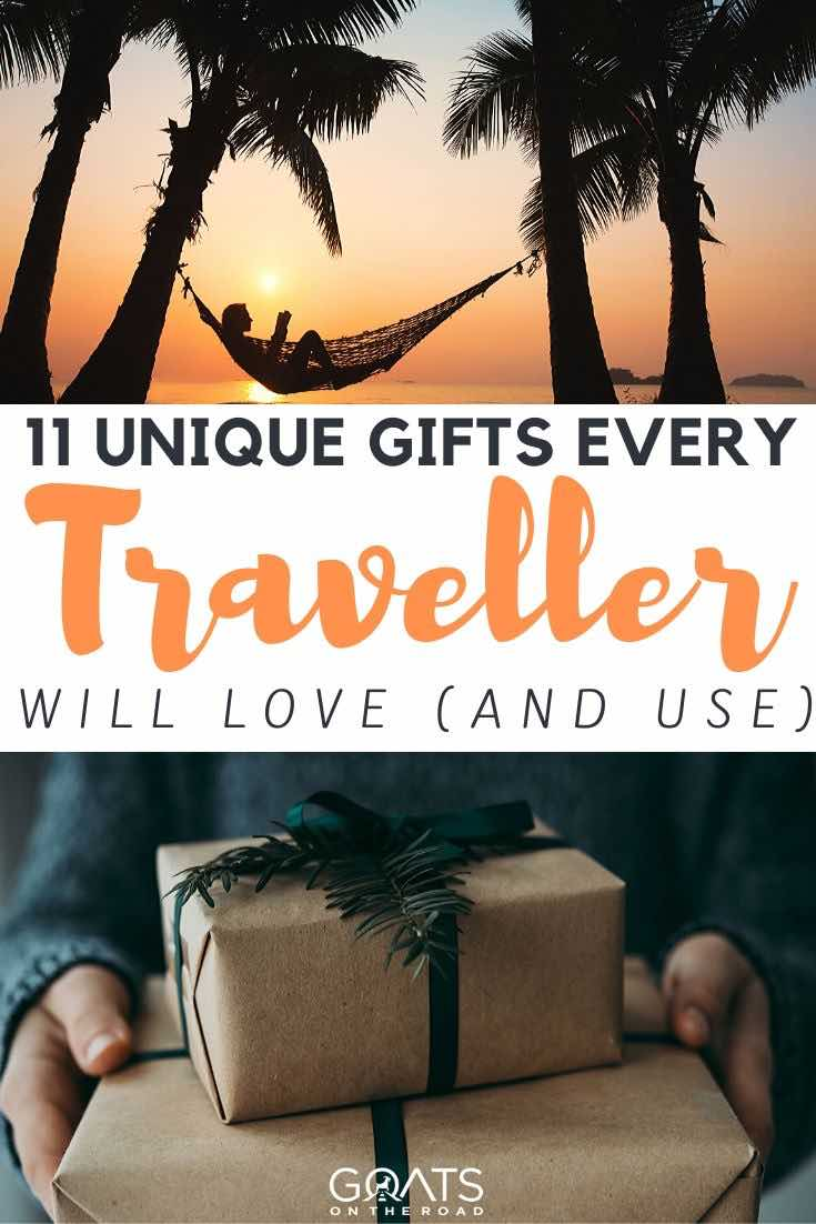 hammock and gift with text overlay 11 unique gifts every traveller will love and use