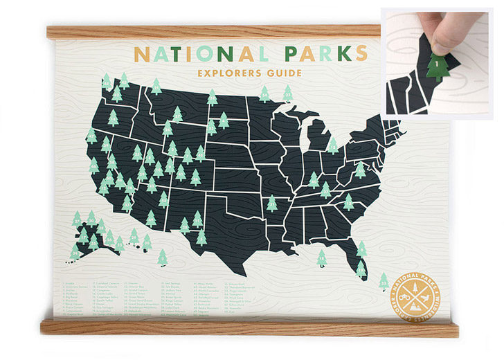 National Parks Checklist and Map (25 Best Gifts for Adventurers) // localadventurer.com
