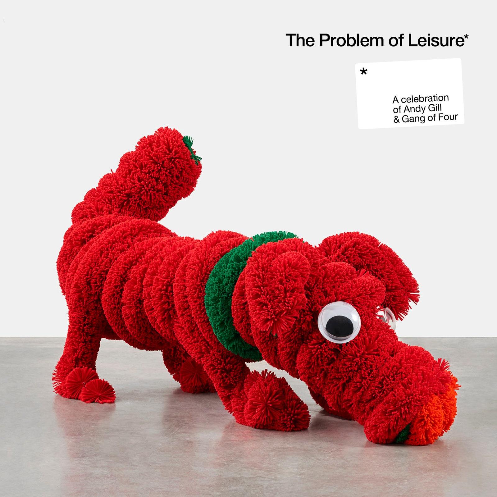 Fluffy red stuffed animal dog