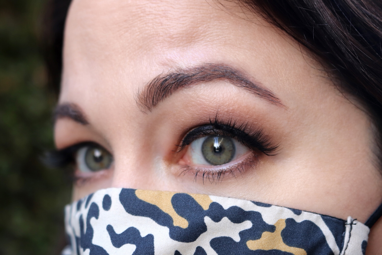 Glo Skin Beauty cool smokey eye look with leopard mask