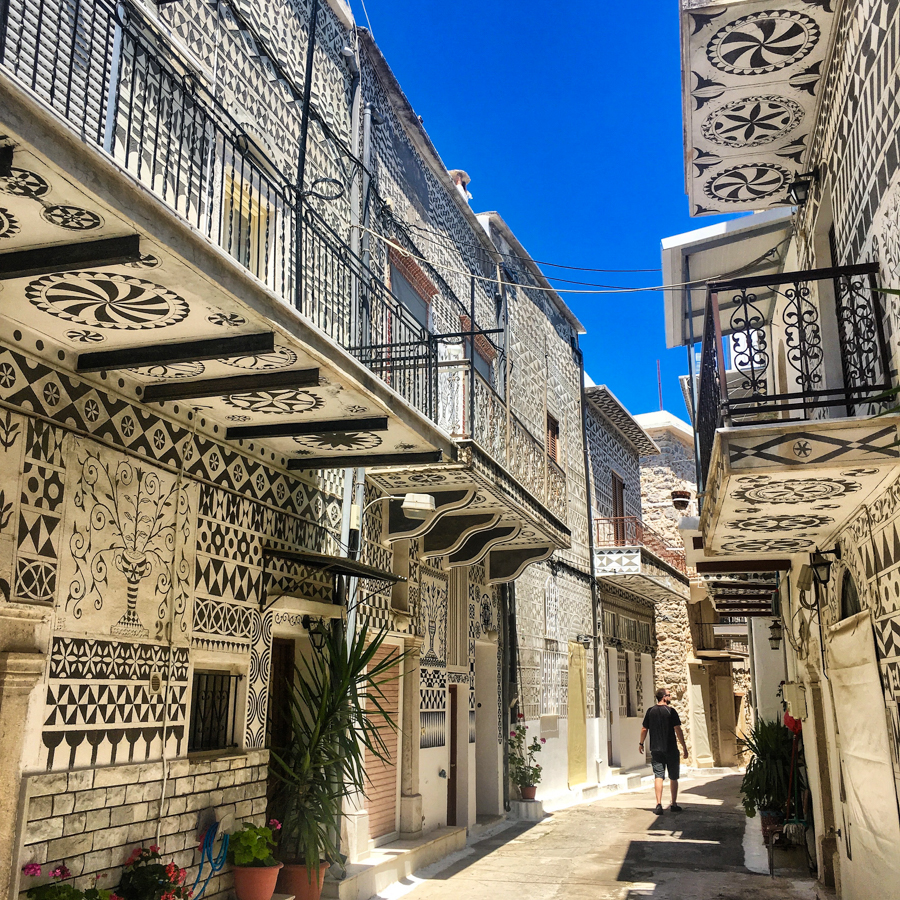 travel to pyrgi chios in greece, the cheapest destination for 2018
