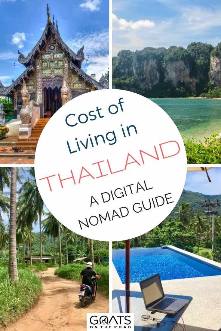 Various spots in Thailand with text overlay