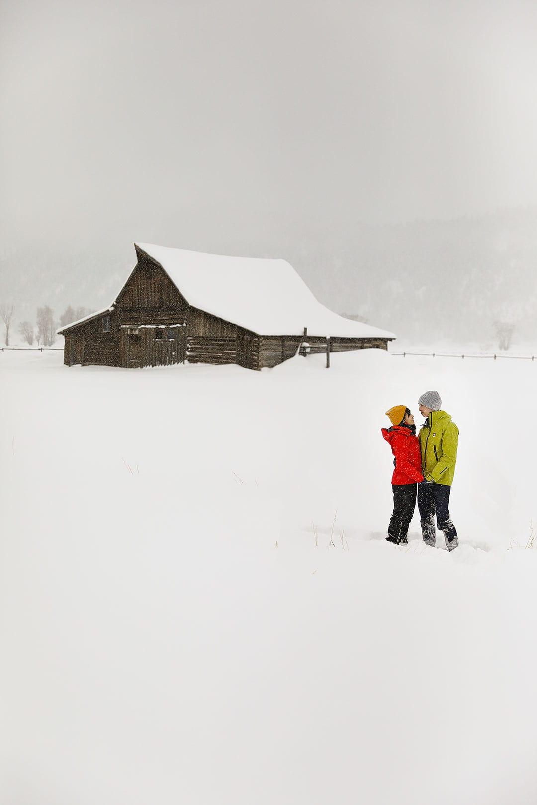Moulton Barn Winter