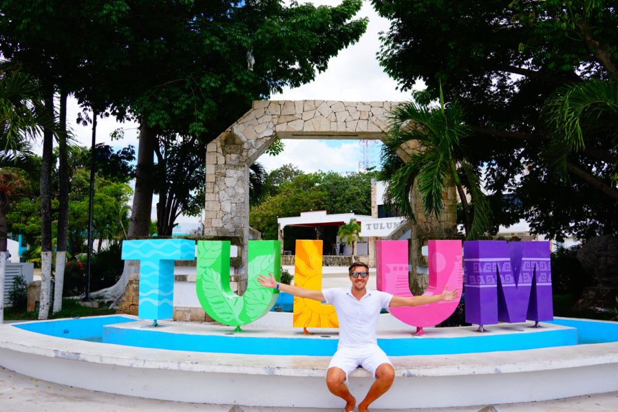 Tulum town Sign touristy things to do in tulum