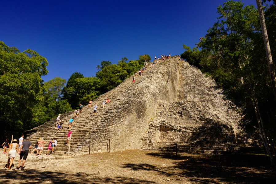 hiking up Coba ruins is one of the top things to do in tulum