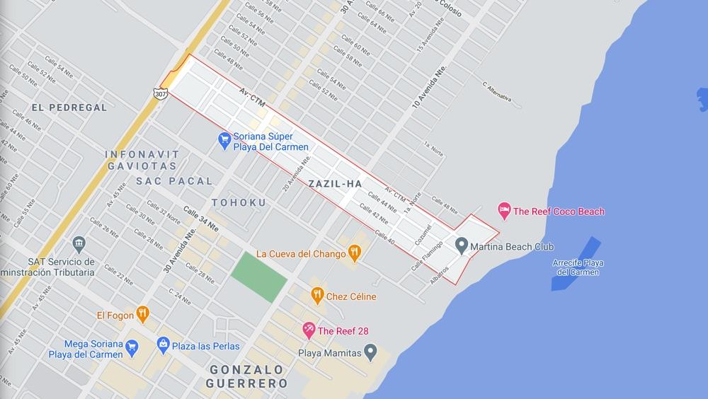 best neighbourhood in playa del carmen zazil ha