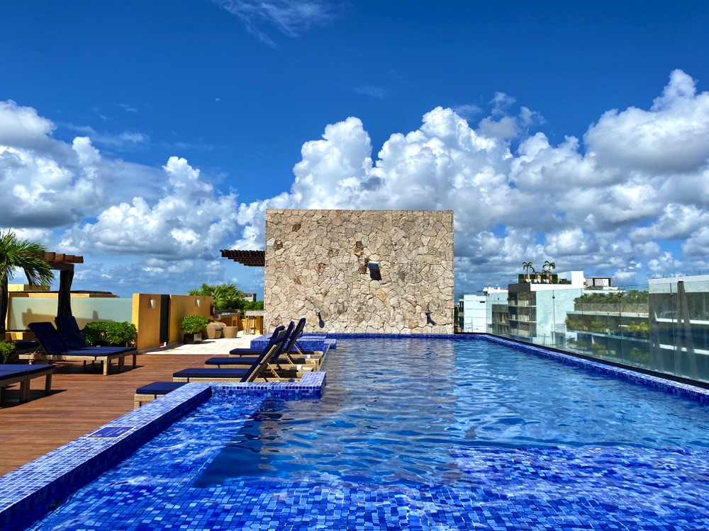 rooftop pool living in playa del carmen