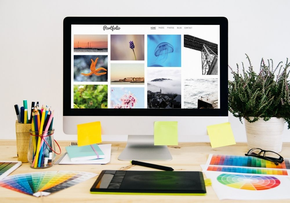create a portfolio when you're learning how to start freelancing with no experience