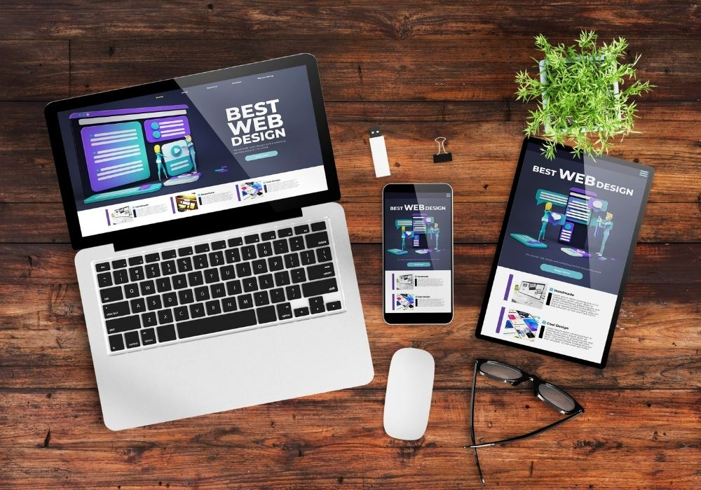 responsive design website on a variety of devices