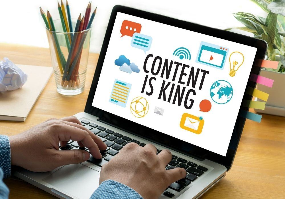 seo search engine optimization and content marketing concept