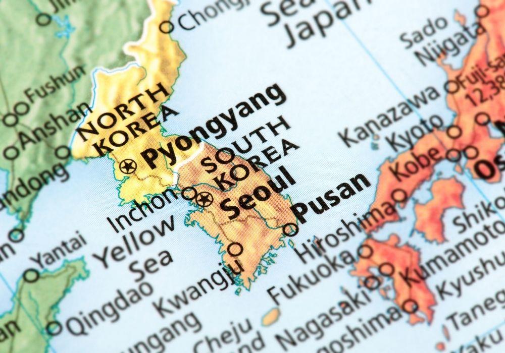 map of south korea teaching english