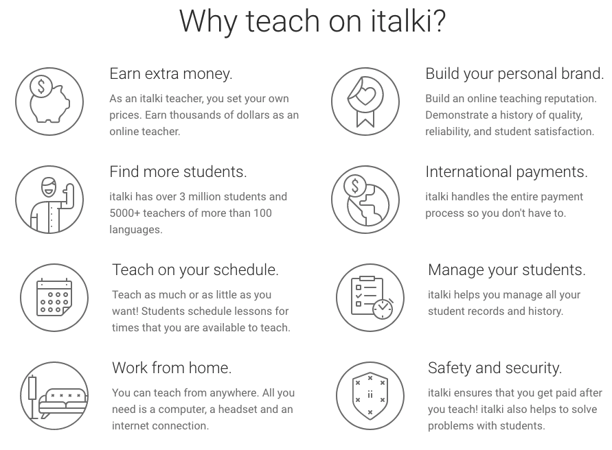 teach english online by using italki and make money