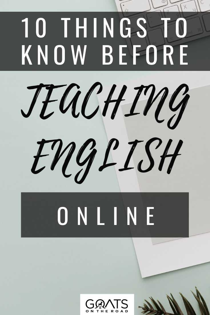 10 Things To Know Before Teaching English Online