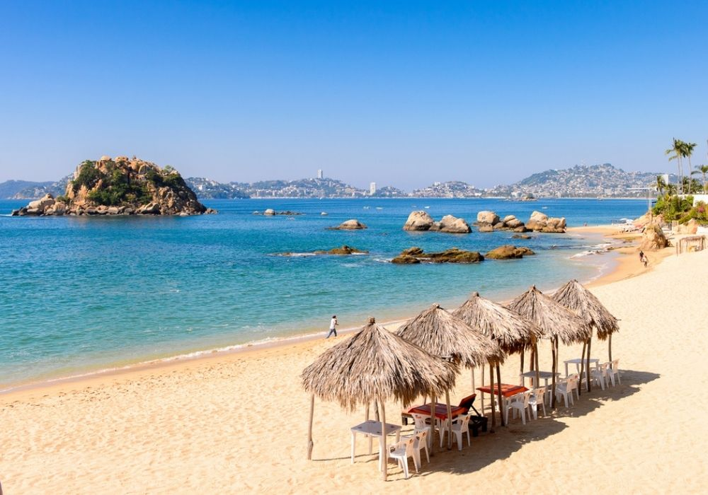 white beach in Acapulco, Mexico