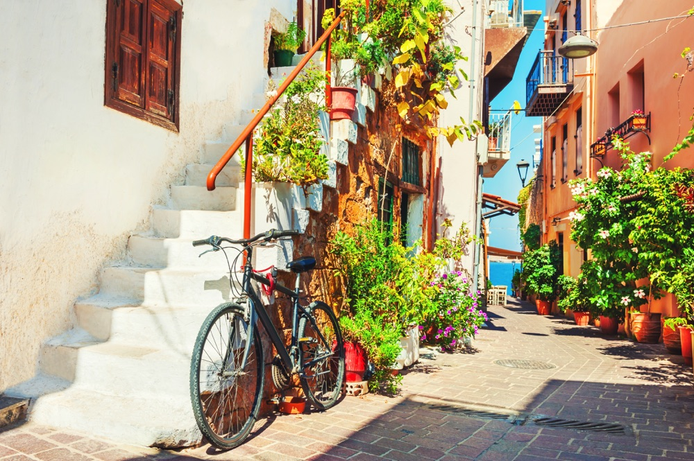 chania old town crete greece