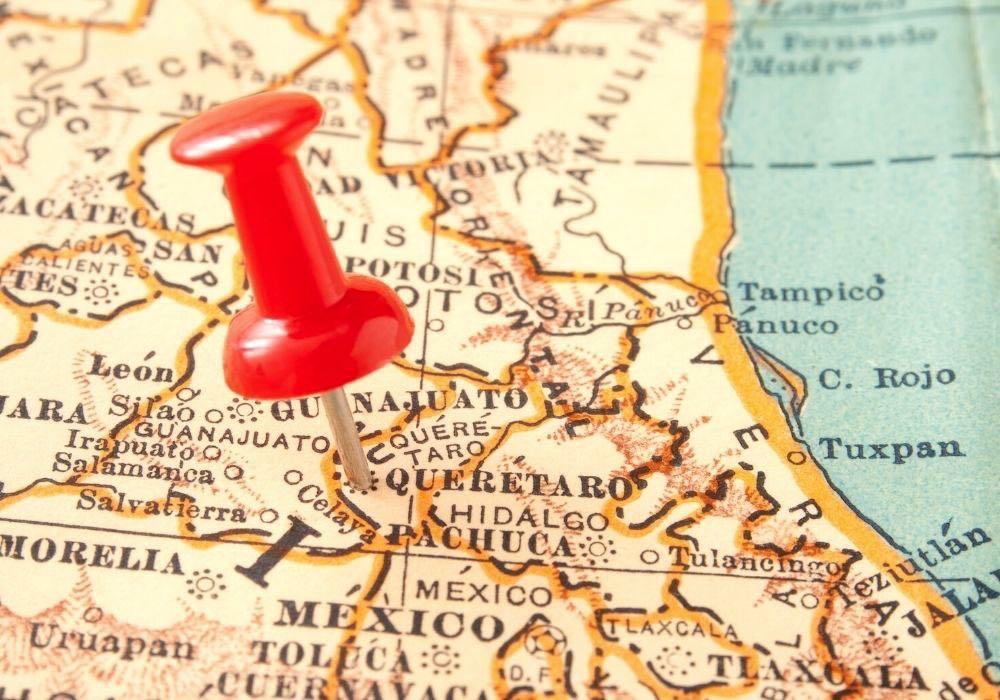 where is queretaro map