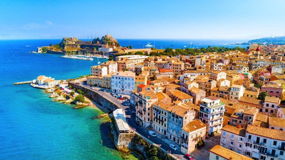 best greek islands corfu town