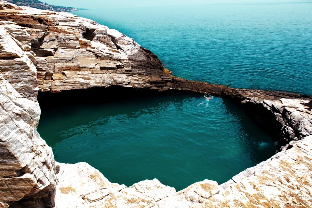 giola swimming hole thassos