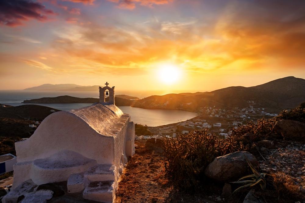 sunset in Ios Greece