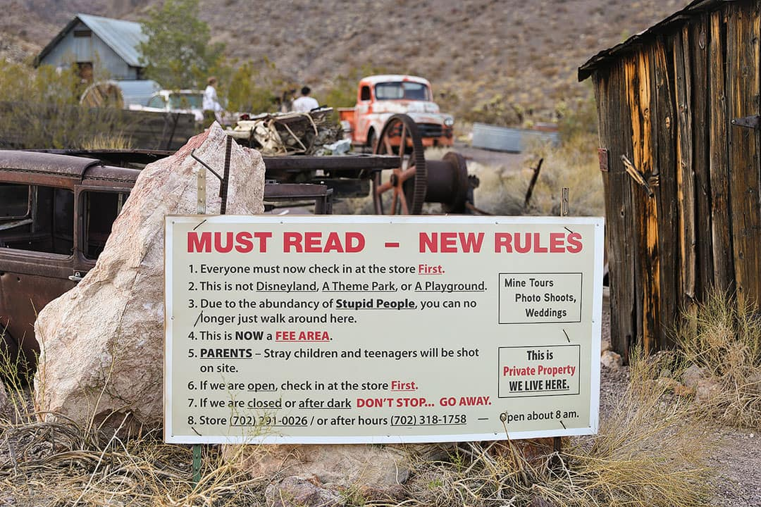 rules of nelson ghost town nv