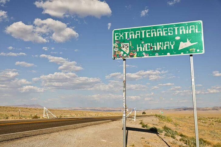 Extraterrestrial Highway Sign