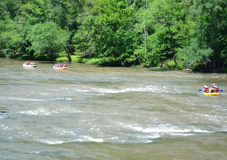 floating down the river is one of the best things to do in asheville nc