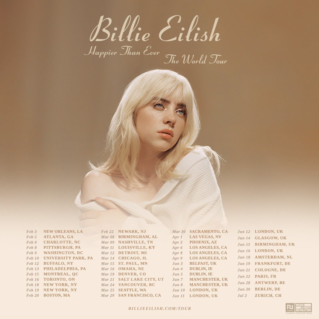 Billie Eilish: Happier Than Ever, The World Tour