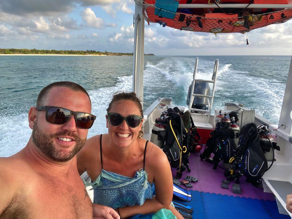 scuba diving boat in cozumel