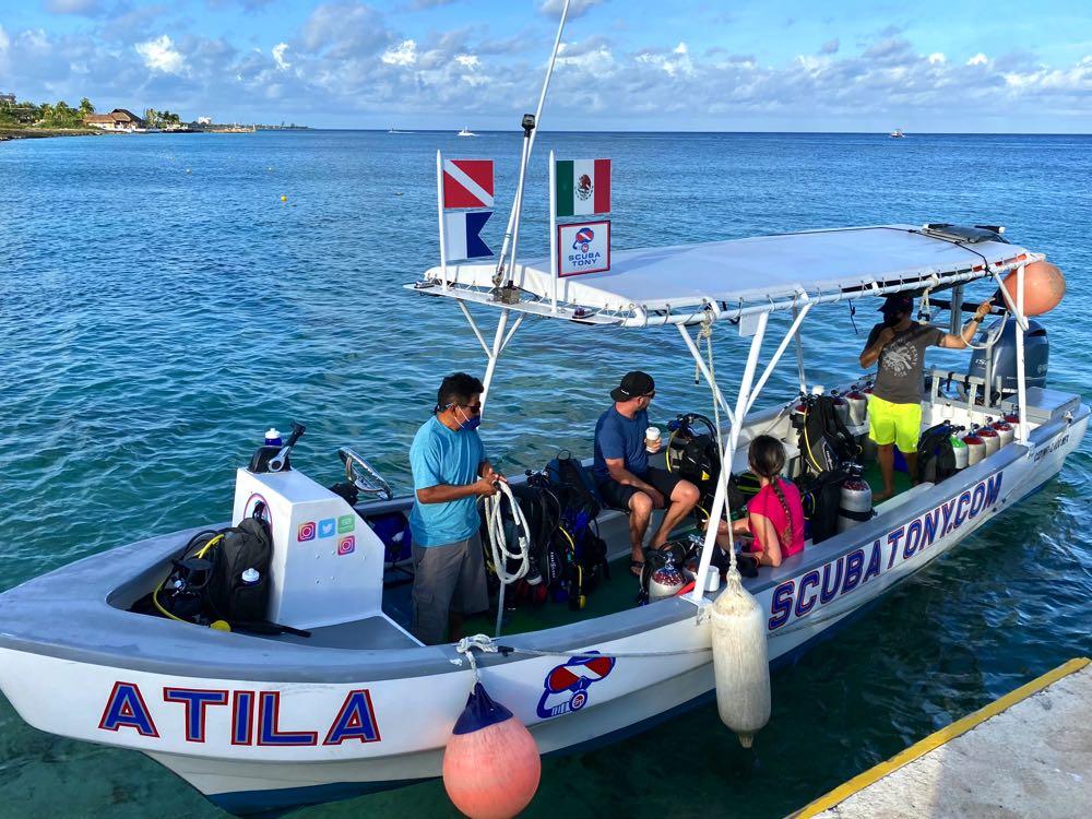 scuba diving in cozumel with scuba tony