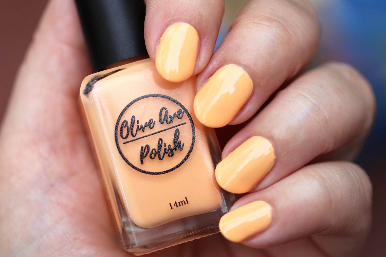 Creamsicle light orange nail polish by Olive Ave