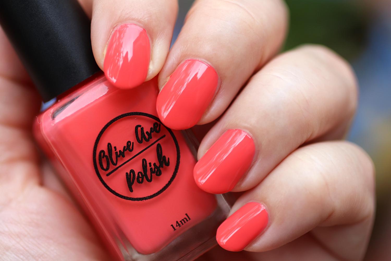 Crake coral nail polish by Olive Ave