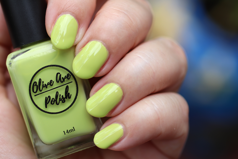 Lyra chartreuse yellow green nail polish by Olive Ave